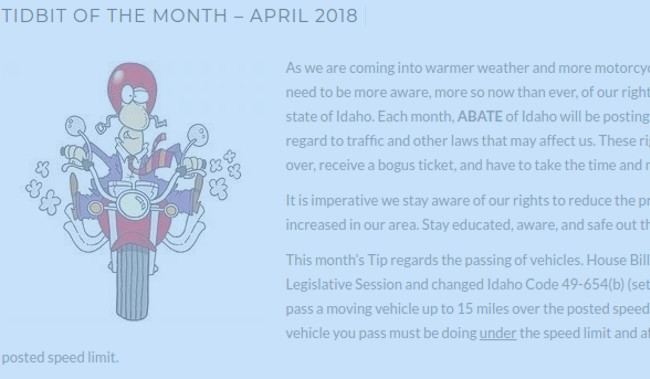 Tidbit of the Month – April 2018